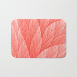 Reef Coral Living Color of the Year 2019 Abstract Pattern Fractal Fine Art Bath Mat