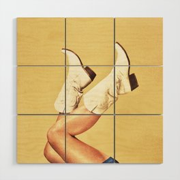 These Boots - Yellow Wood Wall Art