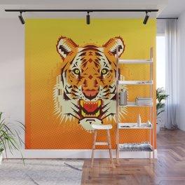 Geometric Tiger Wall Mural