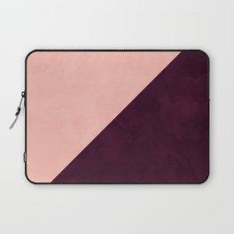 Modern blush pink burgundy watercolor color block geometric Laptop Sleeve