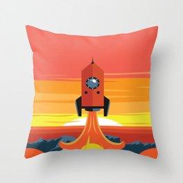 Deco Rocket Throw Pillow