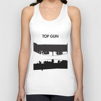 top gun Tank Tops featuring Top Gun Communicating  by NotThatMikeMyers