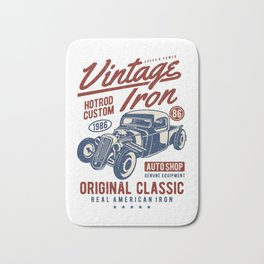 Vintage Iron Hot Rod Custom Bath Mat