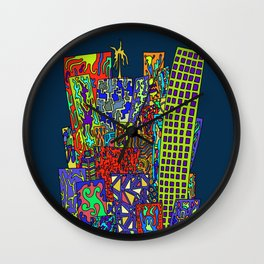 Skyscrapers Wall Clock