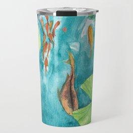Watercolor Koi Pond Travel Mug