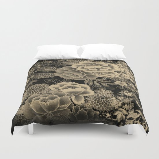 Vintage Floral Abstract Duvet Cover