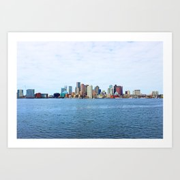 City of Boston Whole view  Art Print