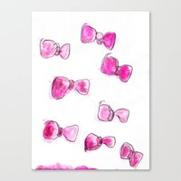 bows Canvas Prints featuring Bows  by BruiseViolet