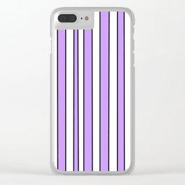 Strips 8-line,band,striped,zebra,tira,linea,rayas,rasguno,rayado. Clear iPhone Case