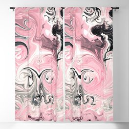 "Shabby Chic ""Saltwater Taffy"" Pink Swirls Blackout Curtain"