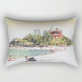 Summer Beach Sunshine Rectangular Pillow