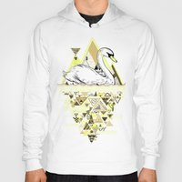 swan Hoodies featuring Swan by Wendy Ding: Illustration