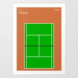Poster Nintendo Tennis Art Print