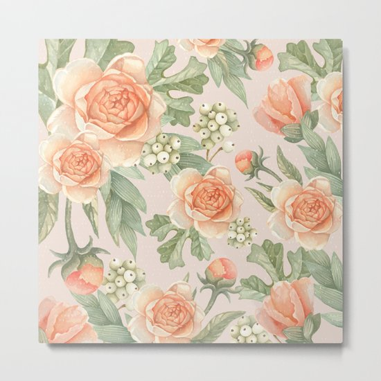 Flowered nature Metal Print