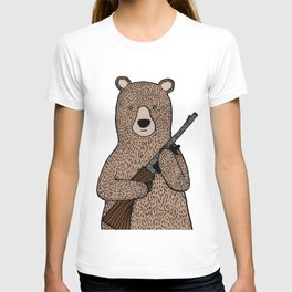 Danger bear color mode T-shirt