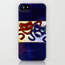 American Drama Comedy & Tragedy iPhone Case