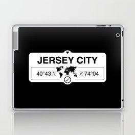 Jersey City New Jersey Map GPS Coordinates Artwork Laptop & iPad Skin