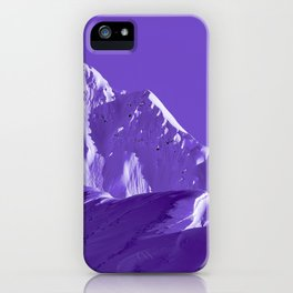 Alaskan Mts. I, Bathed in Purple iPhone Case