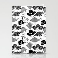hats Stationery Cards featuring Hats, Hats, Hats!! by Pretty Wild Ink