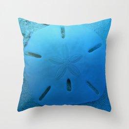 Six Keyhole Sand Dollar Throw Pillow