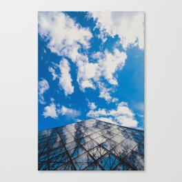 Cloud reflection in the Louvre Pyramid Canvas Print