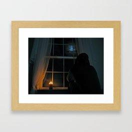 MOON GAZER Framed Art Print