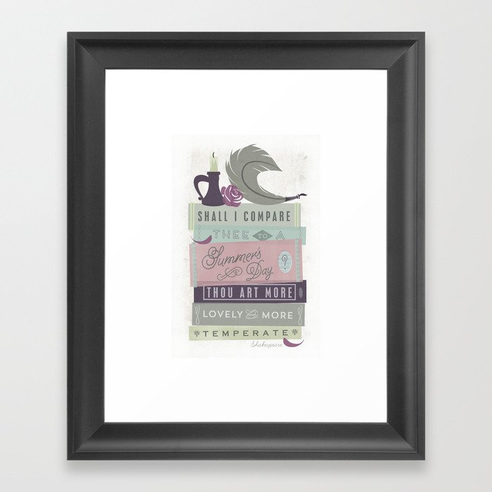 Shakespeare - Shall I Compare Thee Framed Art Print