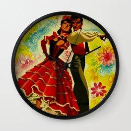 Vintage Spain Travel Ad - Flamenco Wall Clock