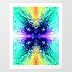 COLLISION COLORS Art Print