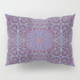 """""""Lavender lotus"""" floral arabesque pattern Pillow Sham"""