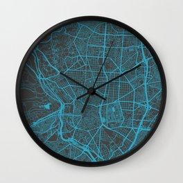 Madrid map Wall Clock