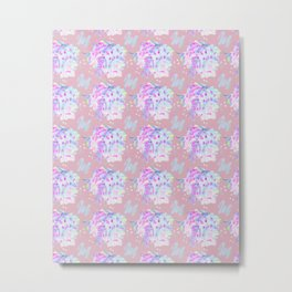 WATERCOLOUR PINK Metal Print