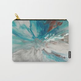 Blown Away - Abstract Acrylic Art by Fluid Nature Carry-All Pouch