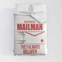 Postal Worker Funny Sleep With Mailman Deliver Mail Gift Comforters