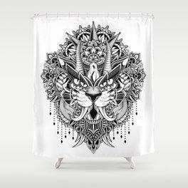 Tiger Mandala Shower Curtain