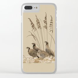Chukar Partridges Clear iPhone Case