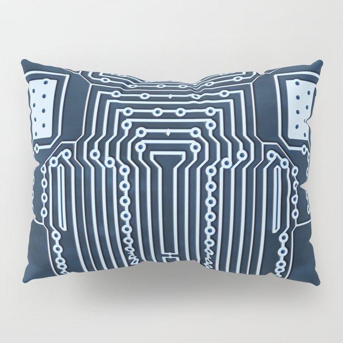 Blue Geek Motherboard Circuit Pattern Pillow Sham