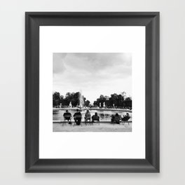 Down by the Lakeside Framed Art Print