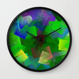 Peace by forest Wall Clock