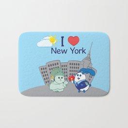 Ernest and Coraline | I love New York Bath Mat