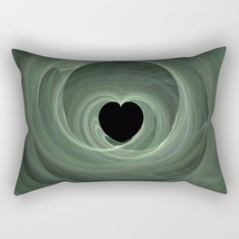 Valentine's Fractal II - Dark Rectangular Pillow