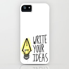 Write Your Ideas iPhone Case