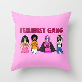 Feminist Gang Throw Pillow