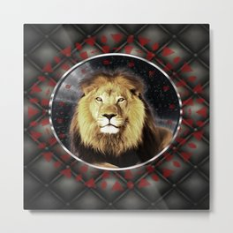 The King Mandala Metal Print