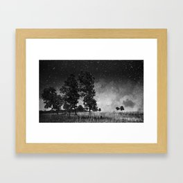 The Lights Hung Framed Art Print