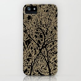 Tangled Tree Branches in Black and Sepia iPhone Case