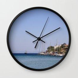 Boats at Datca Wall Clock