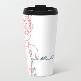 Coffee (lineart) Travel Mug