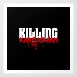 Killing Kardashian Title Logo Art Print