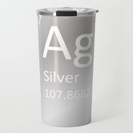 Heavy Metals - Silver Travel Mug